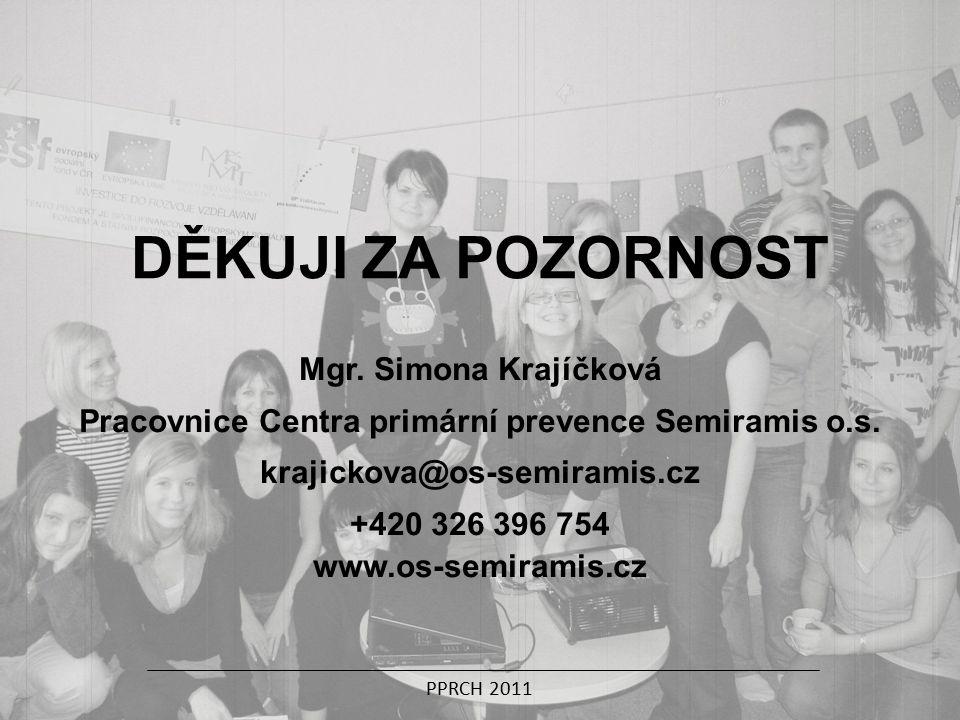 Mgr. Simona Krajíčková Pracovnice Centra primární prevence Semiramis o.s.