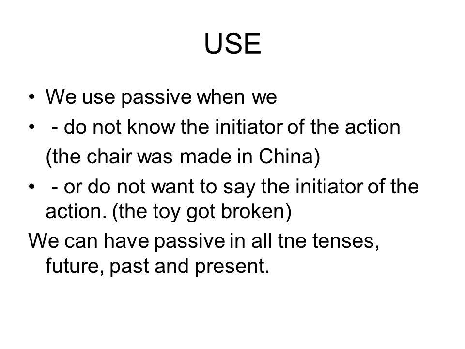 Form Noun+ to be +past (pronoun)participle I Was Made By Microsoft I Was Made By Microsoft
