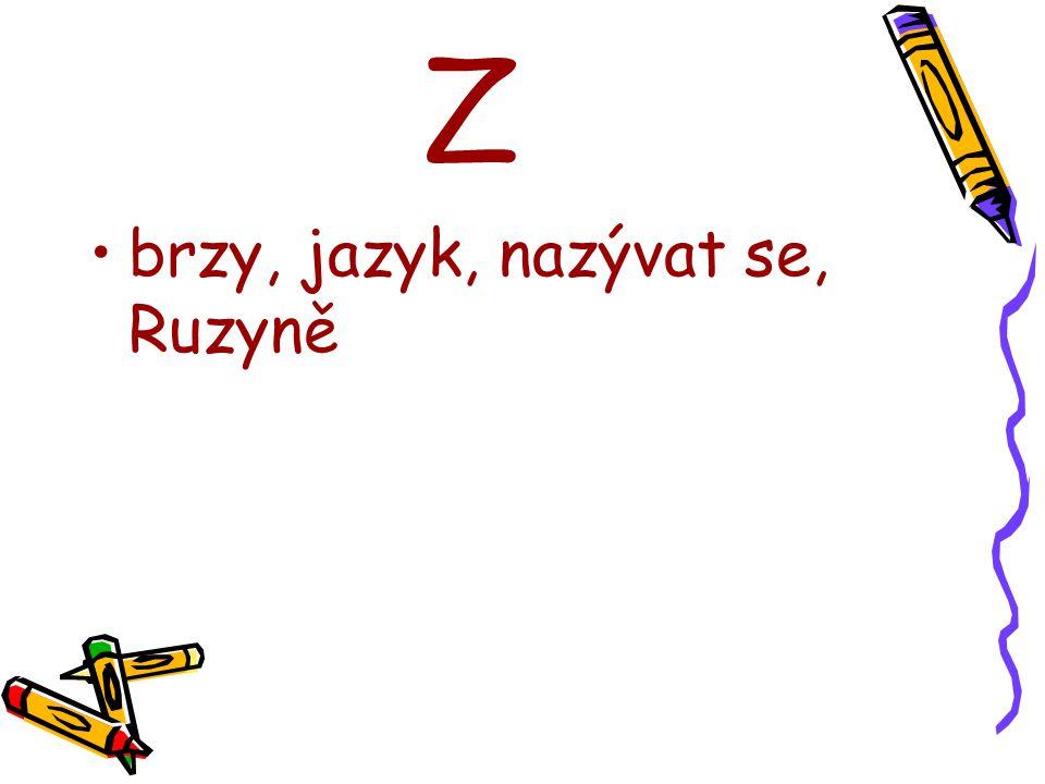Z brzy, jazyk, nazývat se, Ruzyně