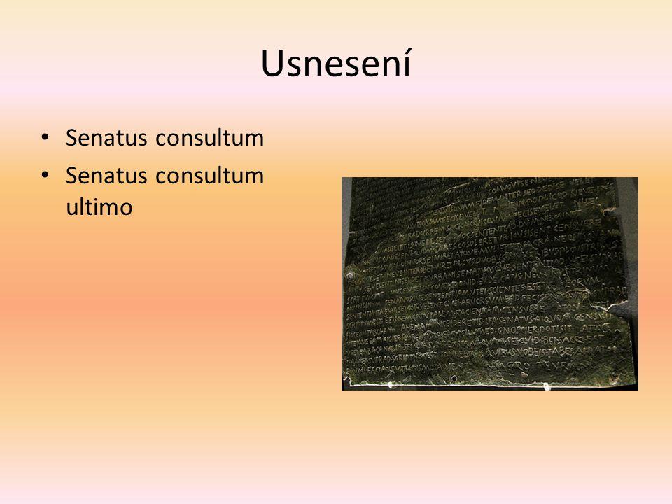 Usnesení Senatus consultum Senatus consultum ultimo