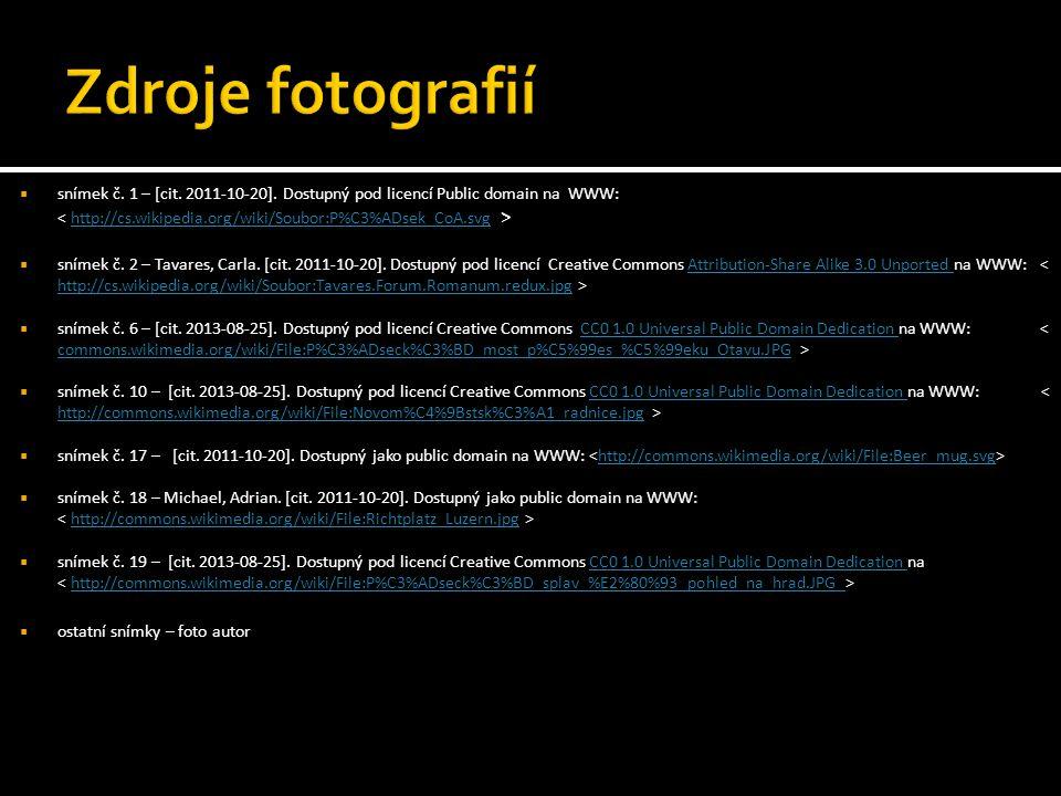  snímek č. 1 – [cit. 2011-10-20].
