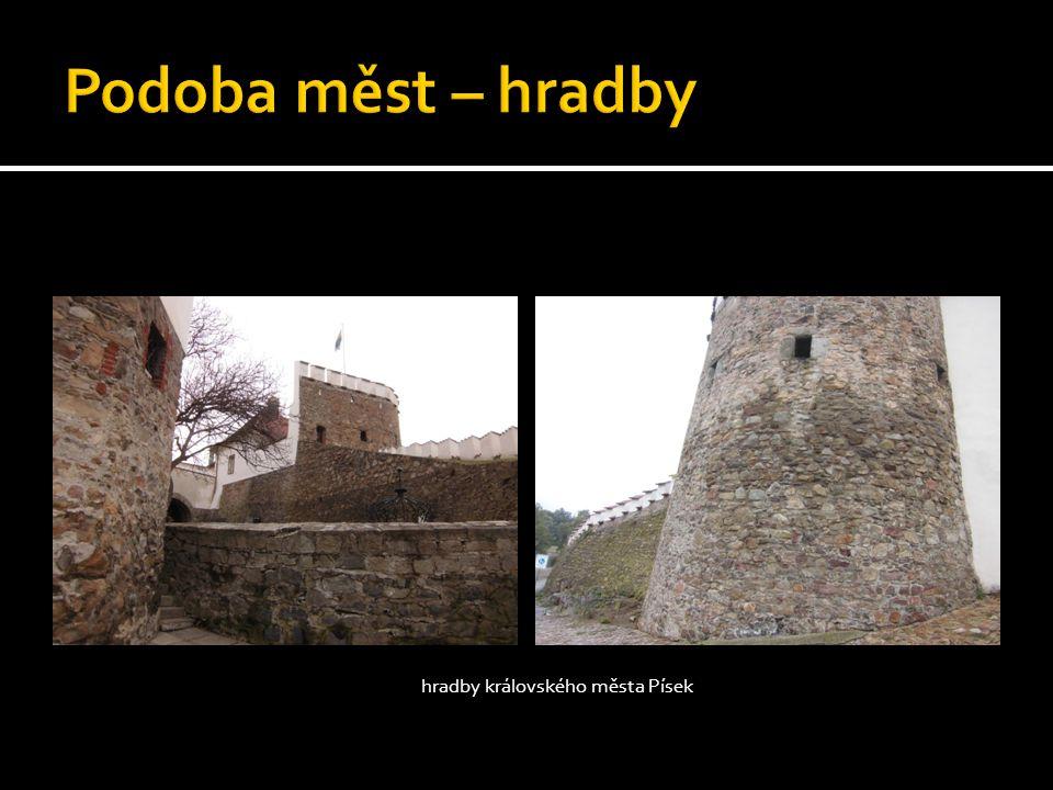 hradby královského města Písek