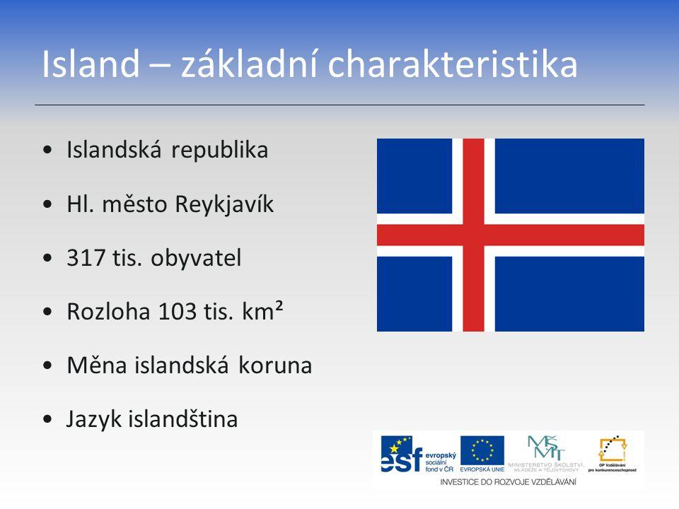 Island – základní charakteristika Islandská republika Hl.