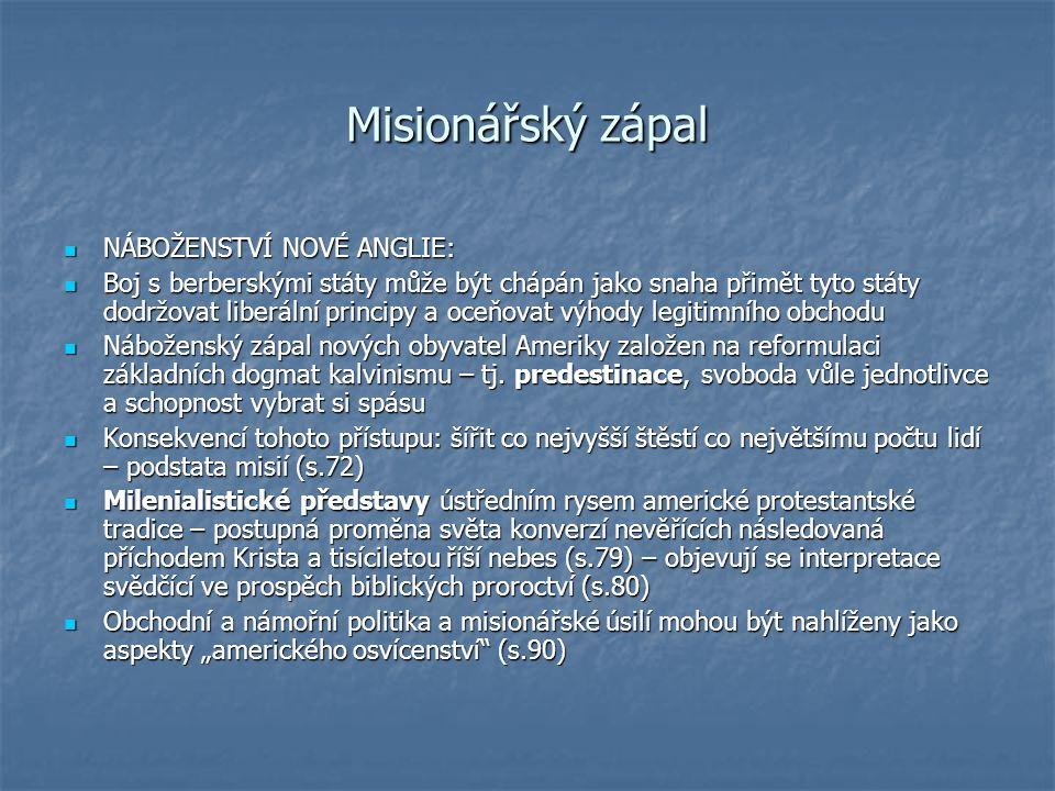 Zhoršení postavení misijních institucí v T.
