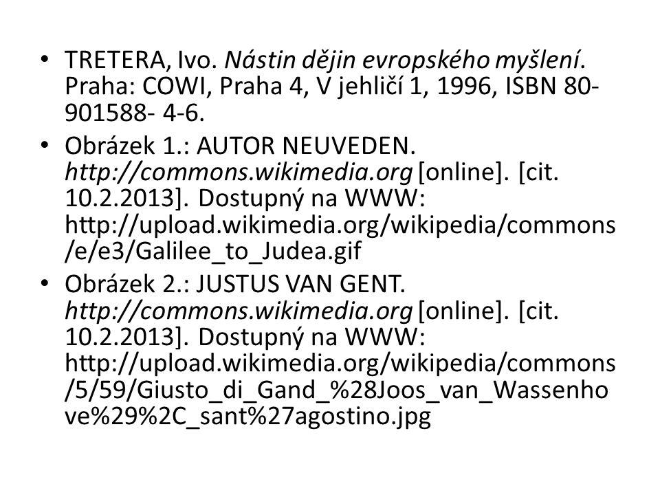 TRETERA, Ivo.Nástin dějin evropského myšlení.