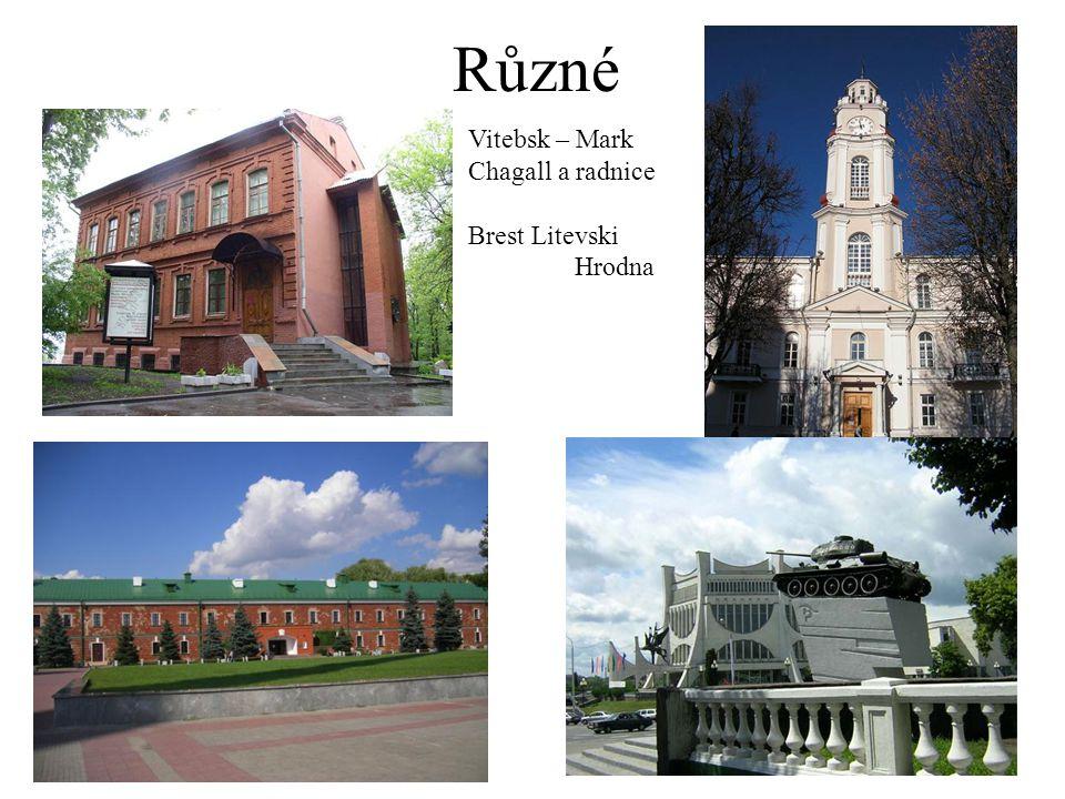 Různé Vitebsk – Mark Chagall a radnice Brest Litevski Hrodna