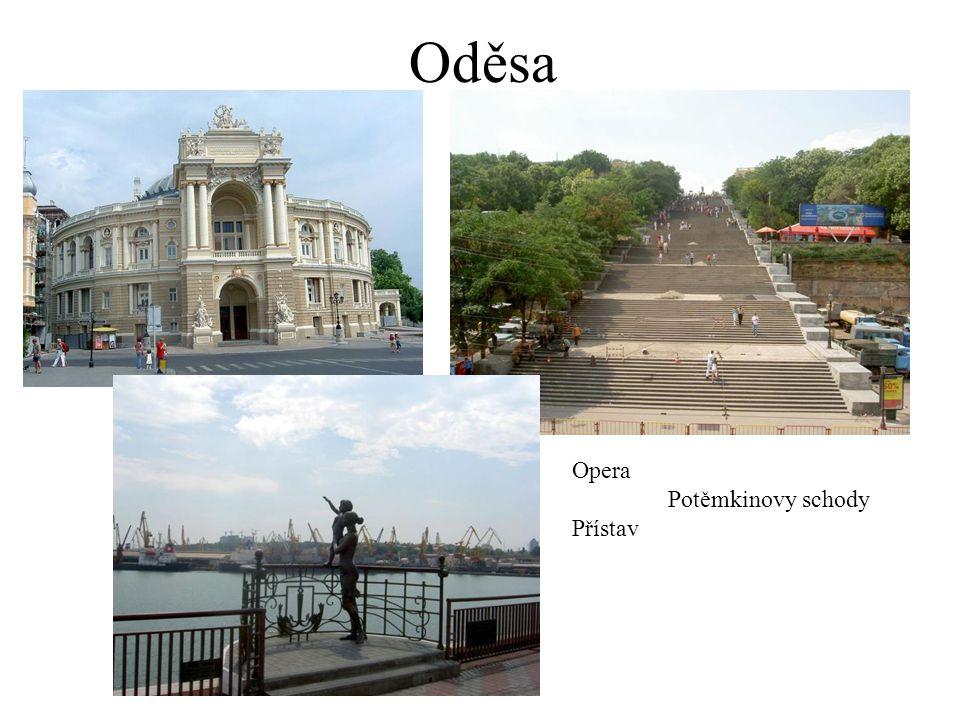 Oděsa Opera Potěmkinovy schody Přístav