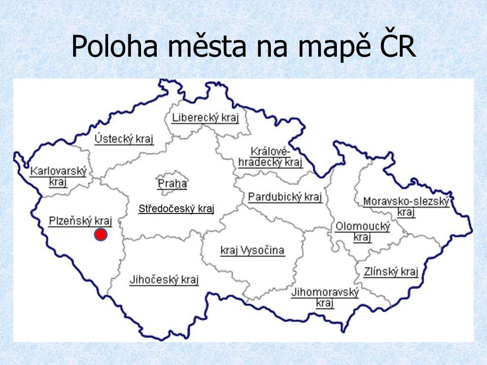 Poloha města na mapě ČR