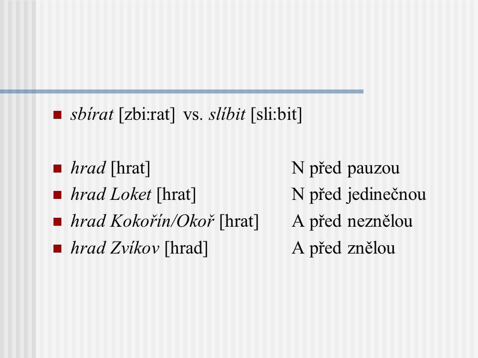 Asimilace znělosti v zásadě: týká se jen souhlásek párových je regresivní probíhá uvnitř slova i přes jeho hranici (kromě pauz) liší se od neutralizac