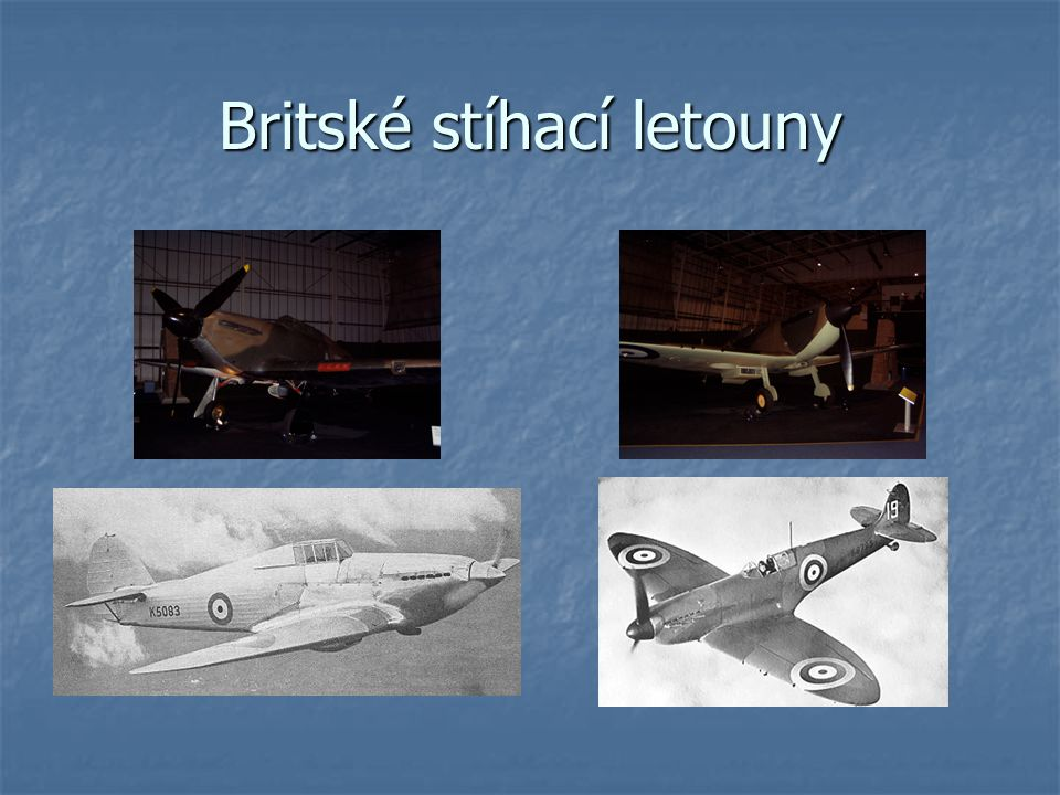 Britské stíhací letouny