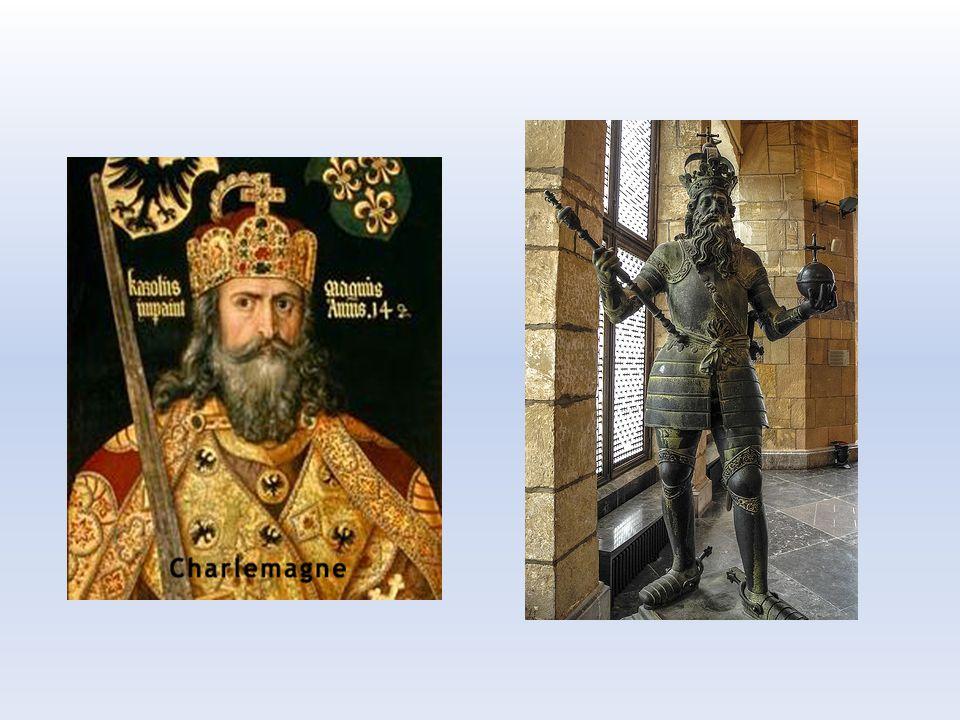 Ovládl severní a střední Itálii, podrobil si Sasy, vyvrátil říši Avarů a bojoval proti Slovanům. Ze své silné pozice dosadil papeže Lva III., který mě
