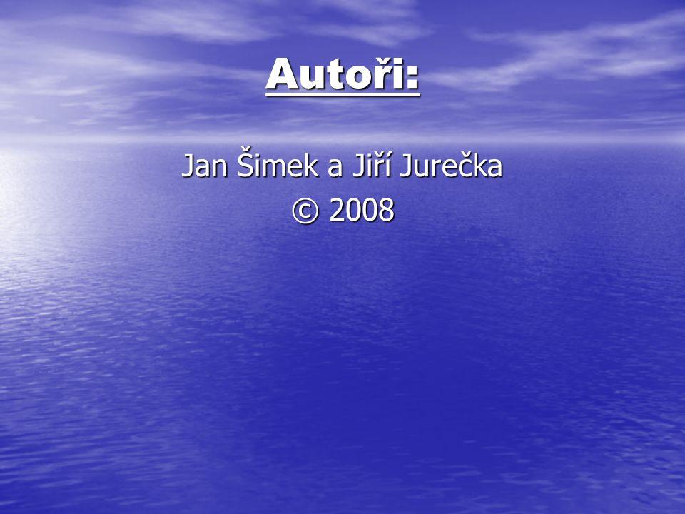 Autoři: Jan Šimek a Jiří Jurečka © 2008