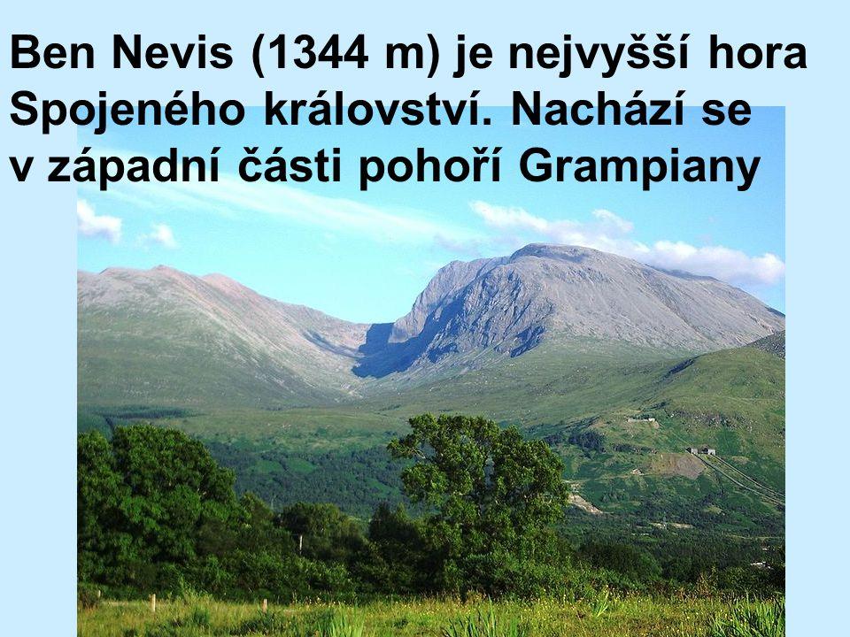 Ben Nevis (1344 m) je nejvyšší hora Spojeného království. Nachází se v západní části pohoří Grampiany