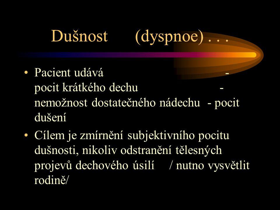 Dušnost (dyspnoe)...