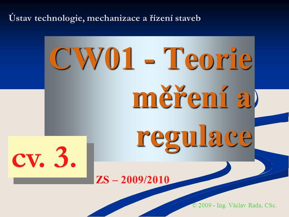 T- MaR MĚŘENÍ – praktická část © VR - ZS 2009/2010 Platí-li pro počet číslic (bitů) digitalizovaného signálu hodnoty D vztah: D = n pak je možné rozlišení až N digitalizačních kroků vstupní veličiny x o šířce dané vztahem: ∆q = 1 / N * x = (1 / 2 n ) * x max CHYBY Digitalizace