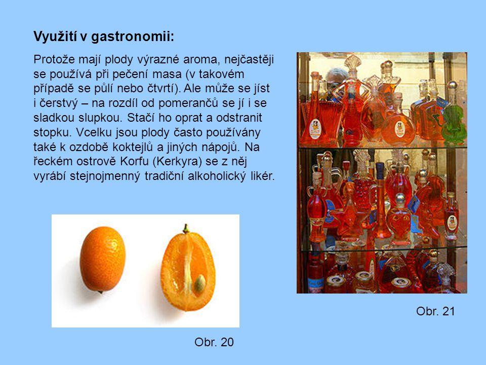 Využití v gastronomii: Protože mají plody výrazné aroma, nejčastěji se používá při pečení masa (v takovém případě se půlí nebo čtvrtí). Ale může se jí