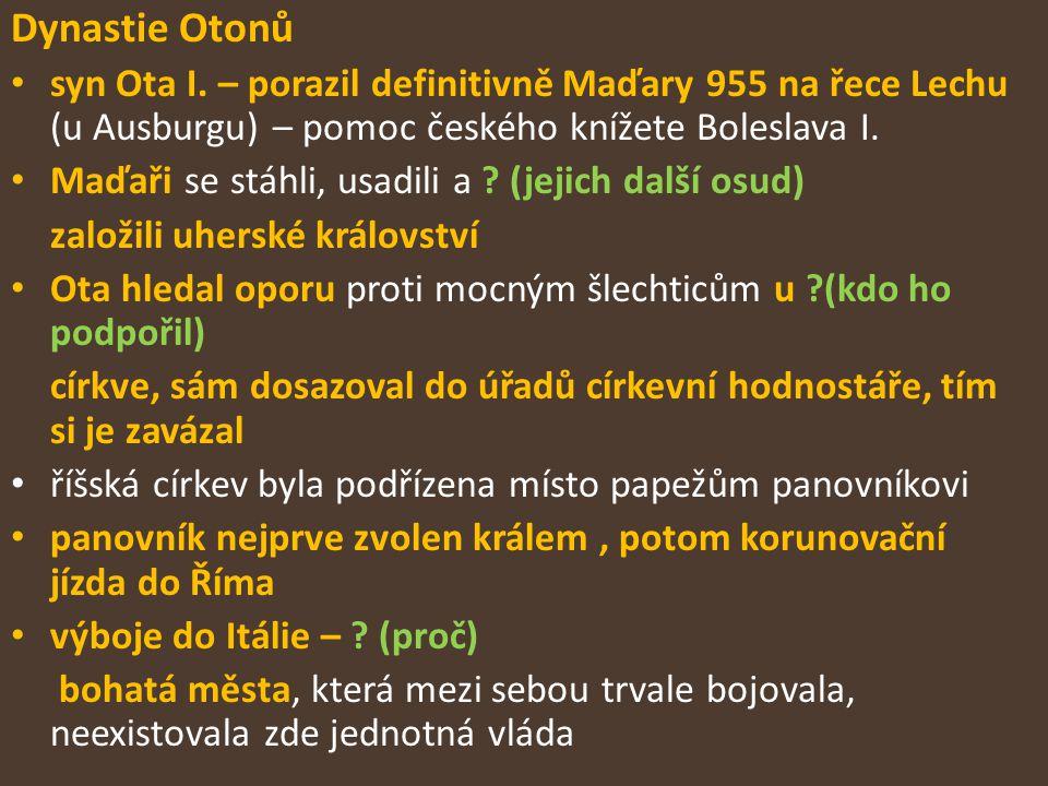 Dynastie Otonů syn Ota I.