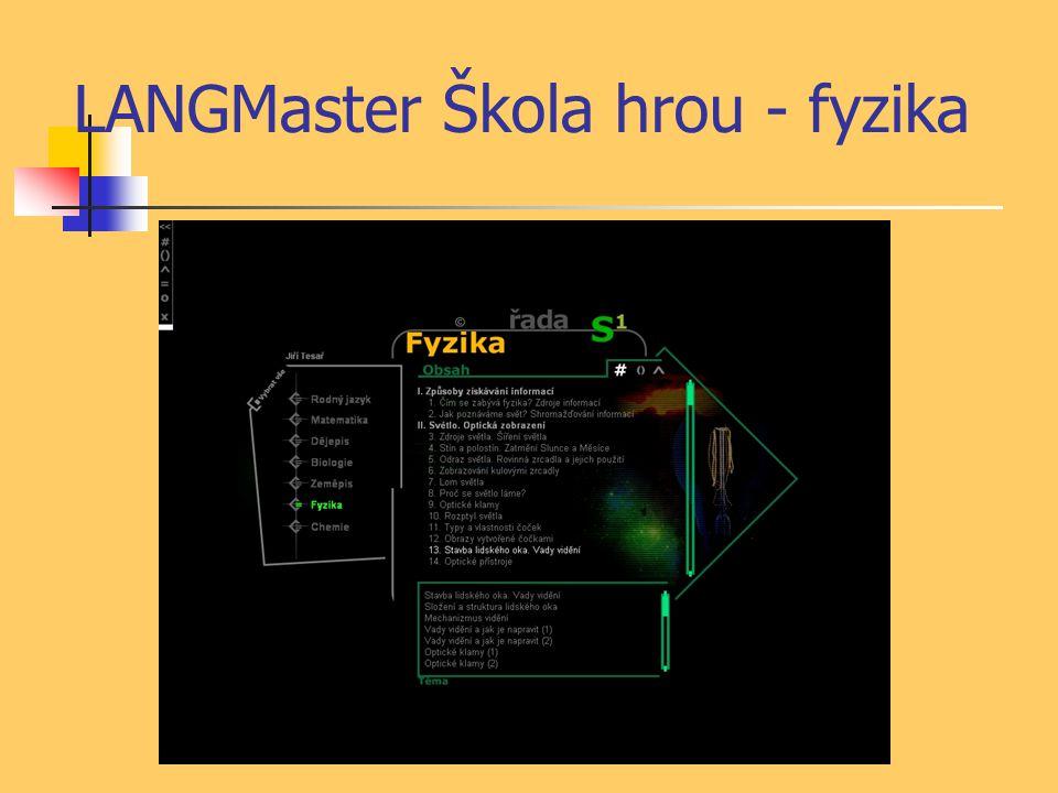 LANGMaster Škola hrou - fyzika
