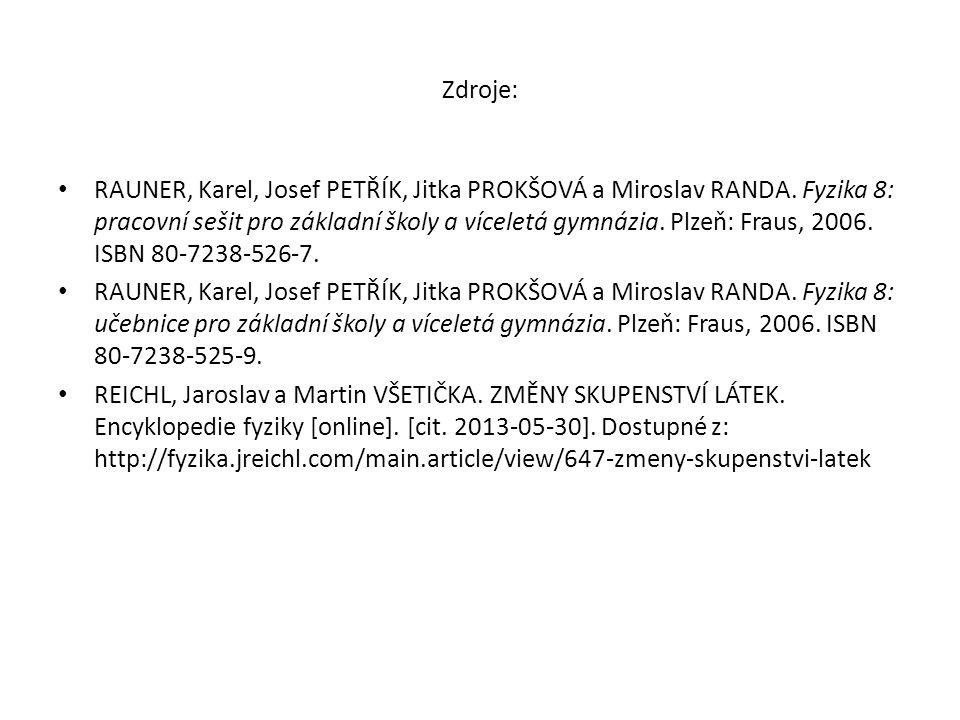 Zdroje: RAUNER, Karel, Josef PETŘÍK, Jitka PROKŠOVÁ a Miroslav RANDA.
