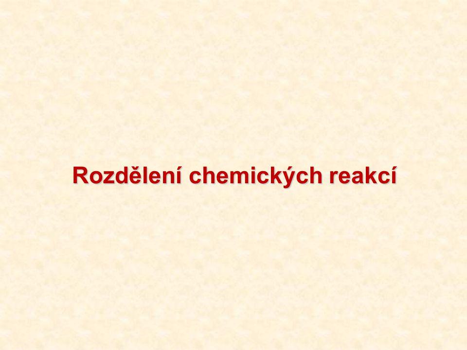 Rozdělení chemických reakcí