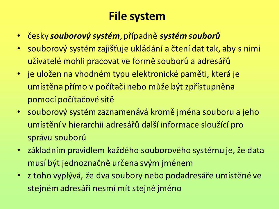 Kontrolní otázky: 1.Co představuje soubor z hlediska dat v počítači.