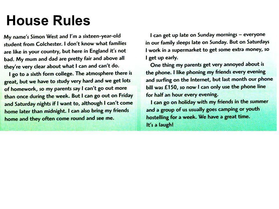Vloženo z house_rules.pptx Začátek