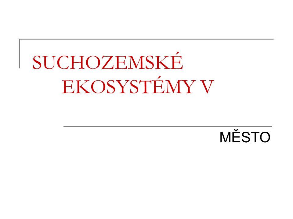 Osnova Charakteristika Vymezení městských sídel Vznik a vývoj městských sídel v ČR Město jako ekosystém Flóra a fauna měst Město a Brno
