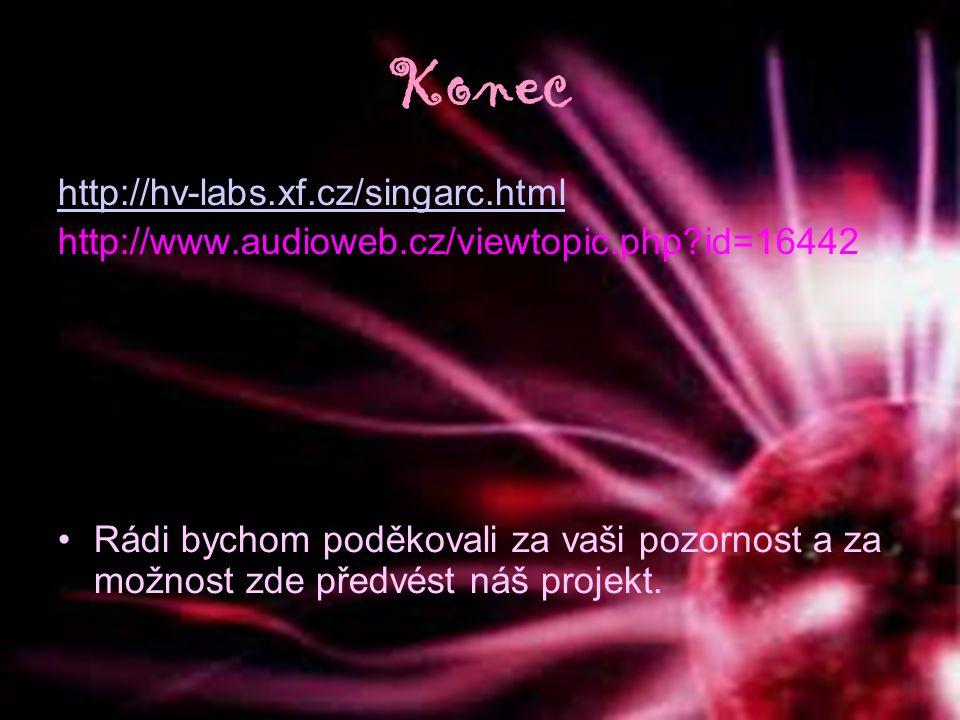 Konec http://hv-labs.xf.cz/singarc.html http://www.audioweb.cz/viewtopic.php?id=16442 Rádi bychom poděkovali za vaši pozornost a za možnost zde předvé