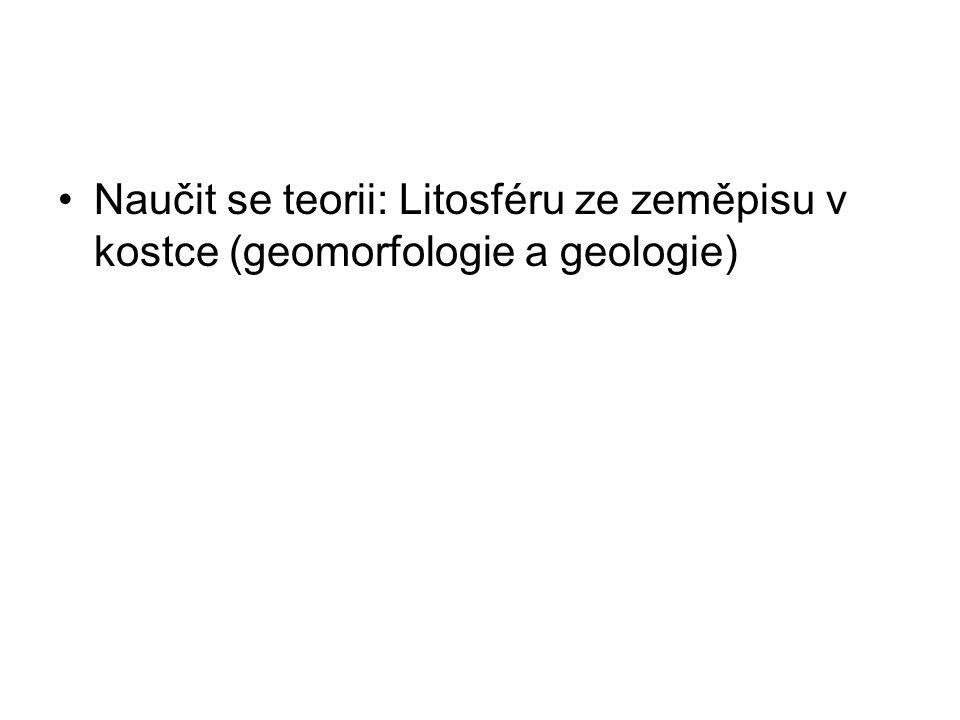 Naučit se teorii: Litosféru ze zeměpisu v kostce (geomorfologie a geologie)