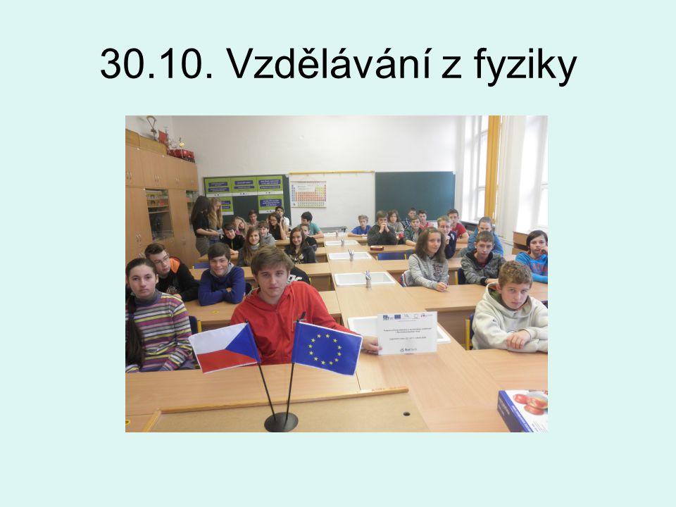 30.10. Vzdělávání z fyziky