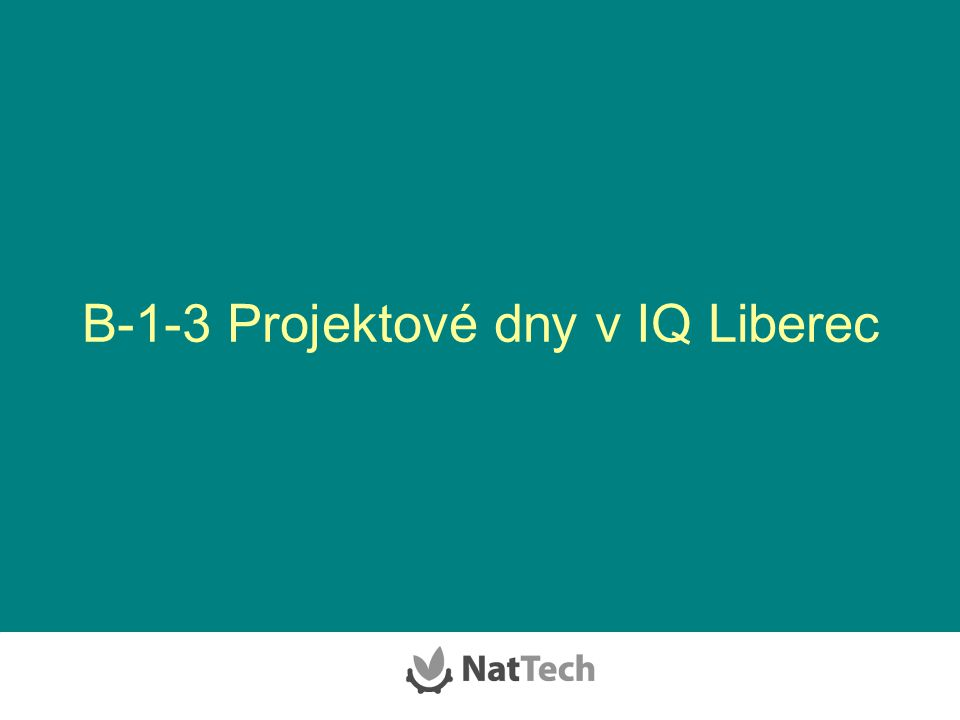 B-1-3 Projektové dny v IQ Liberec