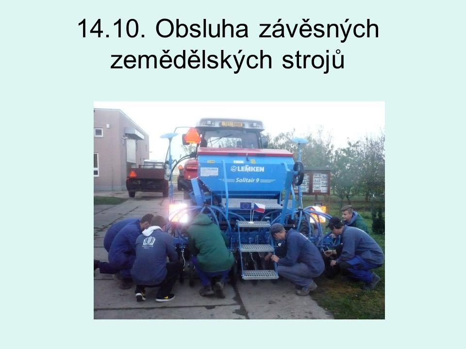 14.10. Obsluha závěsných zemědělských strojů