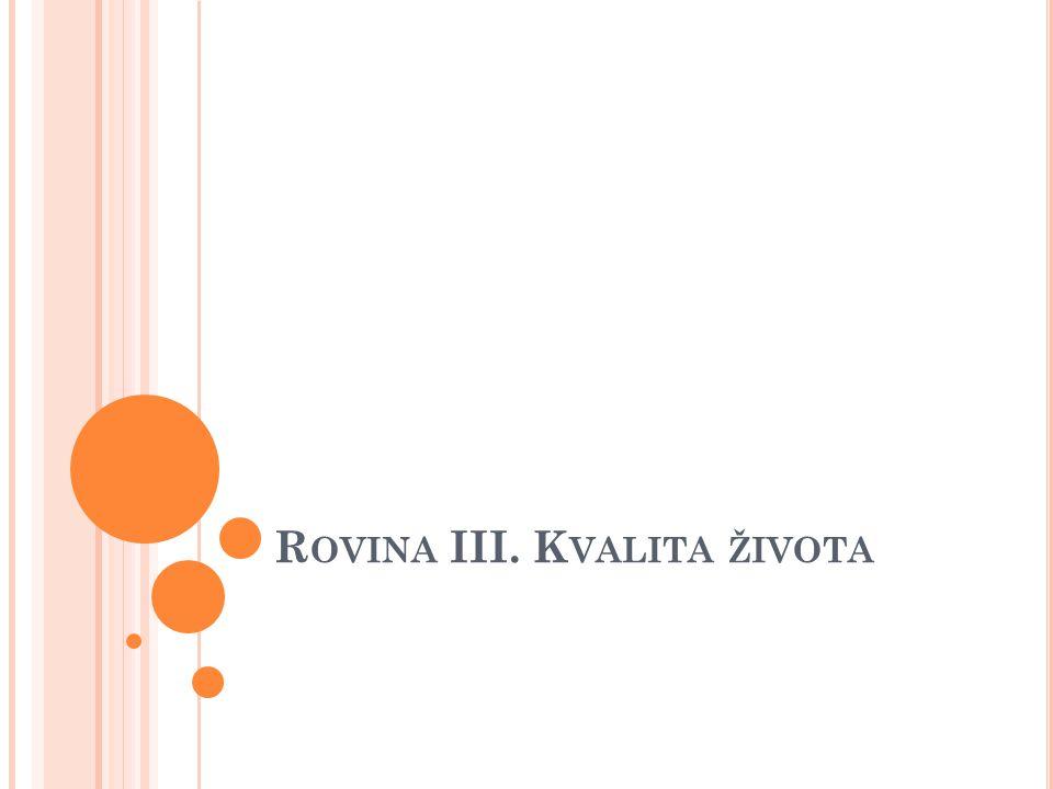 R OVINA III. K VALITA ŽIVOTA