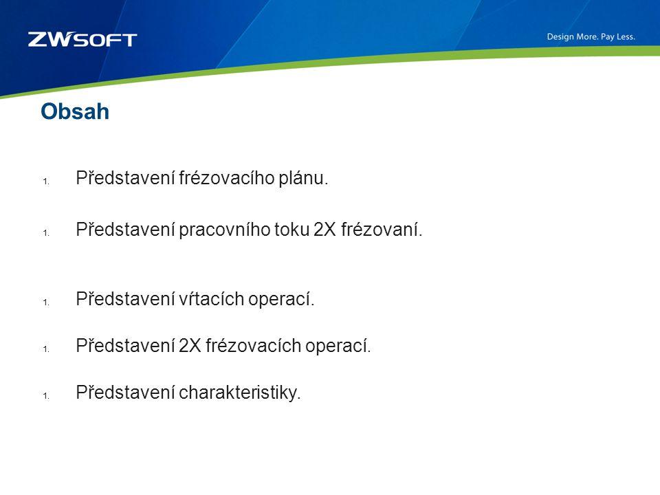 Obsah 1. Představení frézovacího plánu. 1. Představení pracovního toku 2X frézovaní.