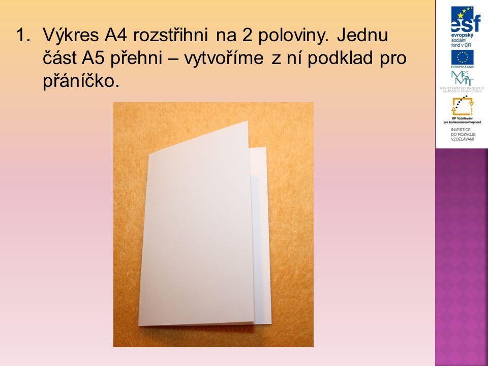 2.Na kousek papíru si načrtni návrh obrázku, který budeš chtít vytlačit.