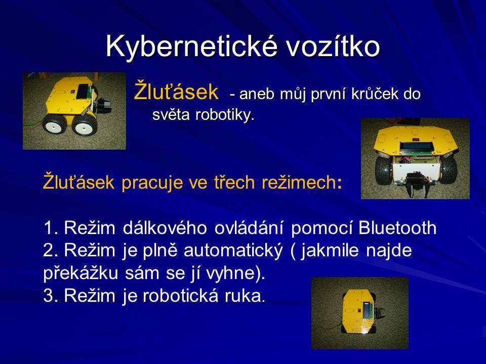 Kybernetické vozítko Žluťásek - aneb můj první krůček do světa robotiky.