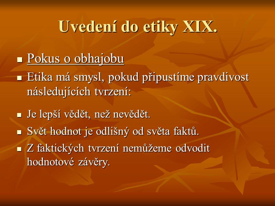 Uvedení do etiky XIX.