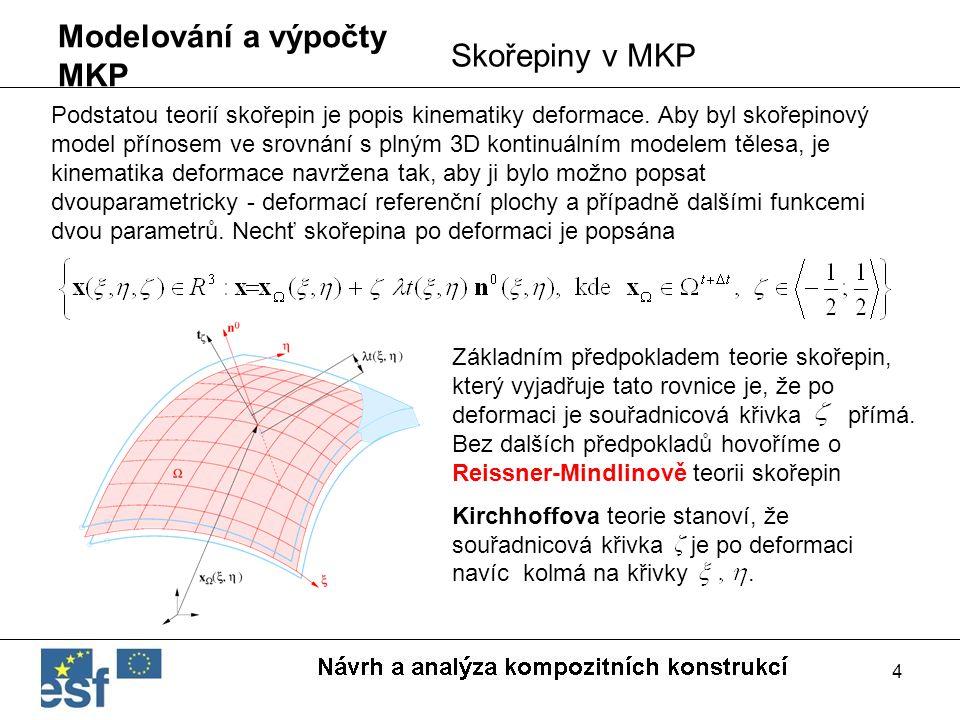 4 Základním předpokladem teorie skořepin, který vyjadřuje tato rovnice je, že po deformaci je souřadnicová křivka přímá. Bez dalších předpokladů hovoř