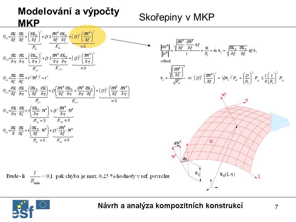 7 Modelování a výpočty MKP Skořepiny v MKP