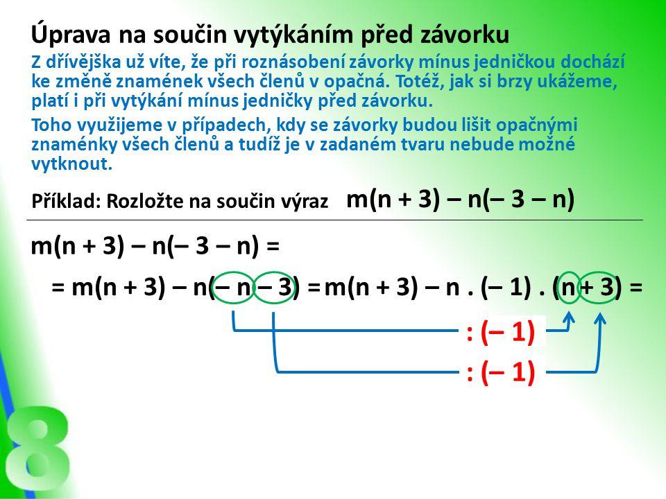 m(n + 3) – n.(– 1).