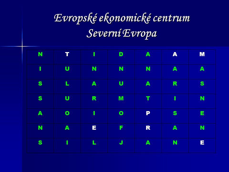 Evropské ekonomické centrum Severní Evropa NTIDAAM IUNNNAA SLAUARS SURMTIN AOIOPSE NAEFRAN SILJANE