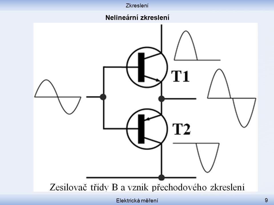 Zkreslení Elektrická měření 9