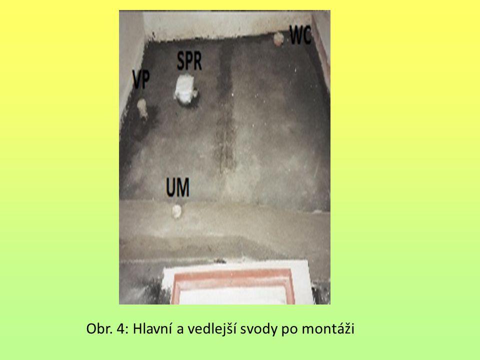 Obr. 4: Hlavní a vedlejší svody po montáži