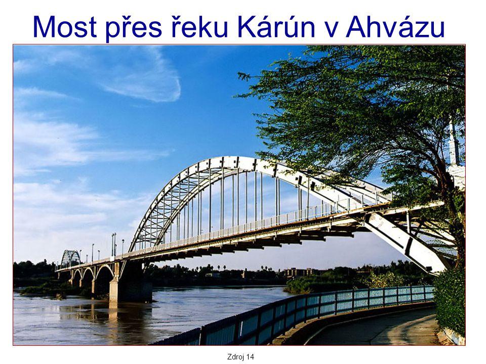 Zdroj 14 Most přes řeku Kárún v Ahvázu