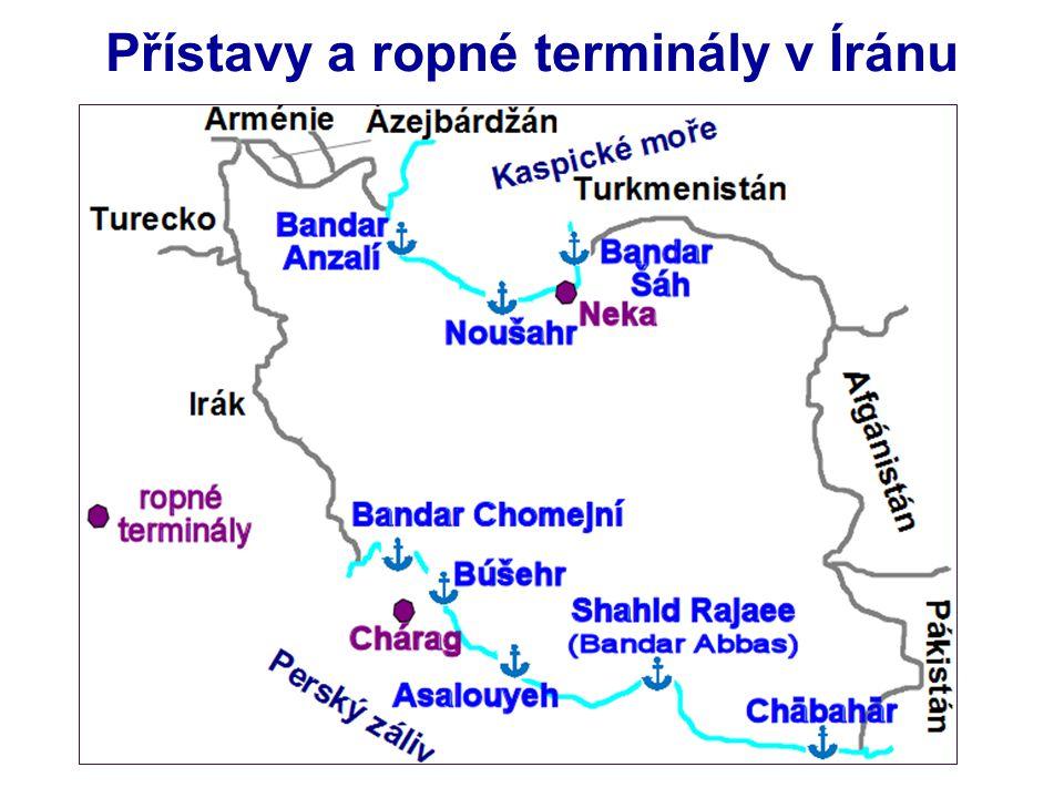 Přístavy a ropné terminály v Íránu