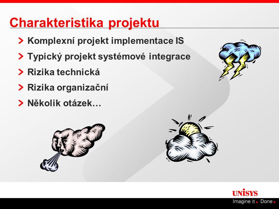 Charakteristika projektu Komplexní projekt implementace IS Typický projekt systémové integrace Rizika technická Rizika organizační Několik otázek…