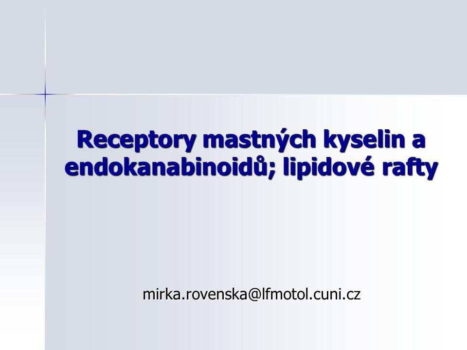 Receptory mastných kyselin a endokanabinoidů; lipidové rafty mirka.rovenska@lfmotol.cuni.cz