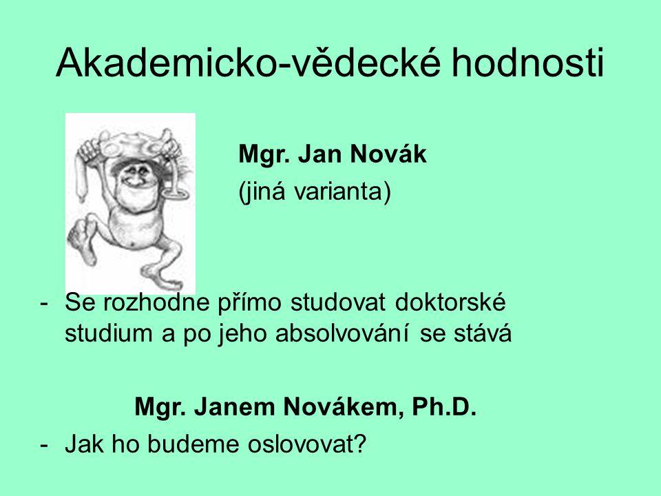 Akademicko-vědecké hodnosti Mgr.