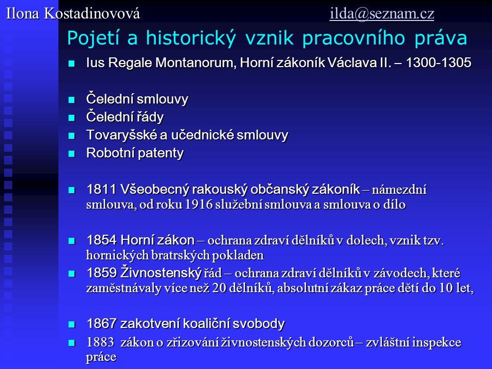 Pojetí a historický vznik pracovního práva Ius Regale Montanorum, Horní zákoník Václava II.