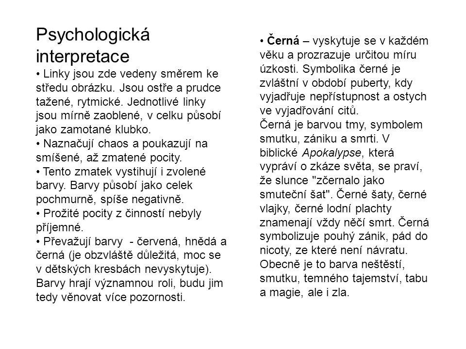 Psychologická interpretace Linky jsou zde vedeny směrem ke středu obrázku.